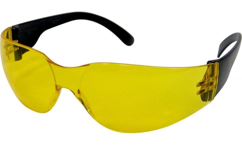Amber Frameless Safety Glasses