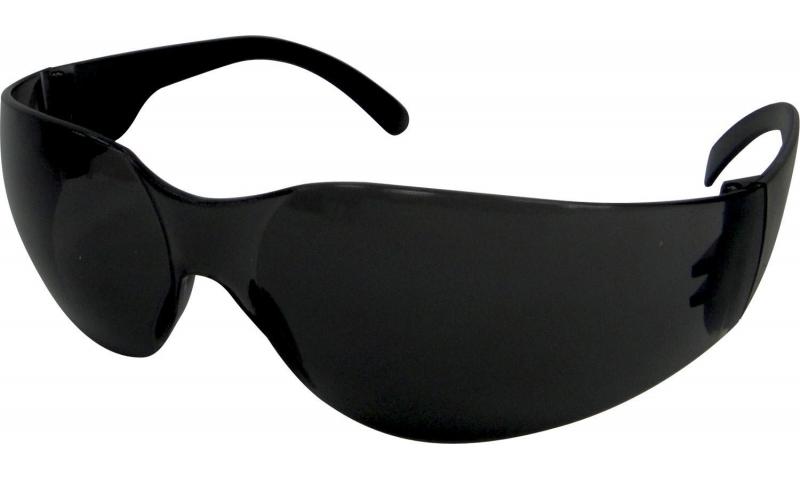Dark Frameless Safety Glasses
