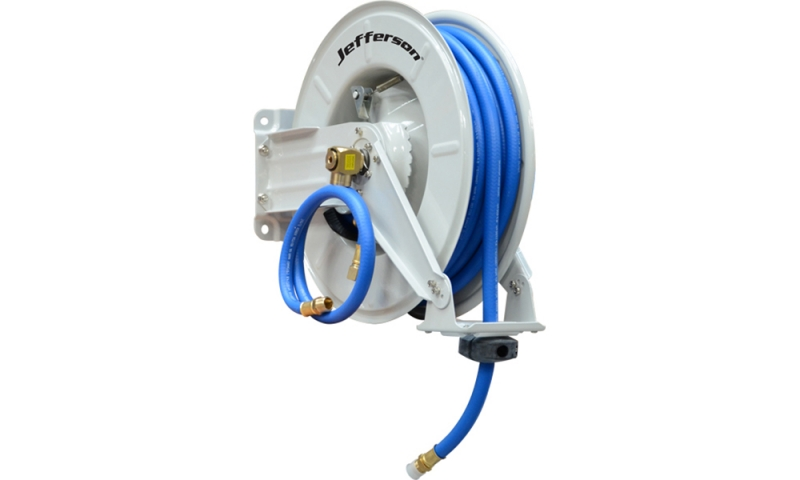 "15m 3/8"" Industrial Auto Retracting Air Hose Reel"