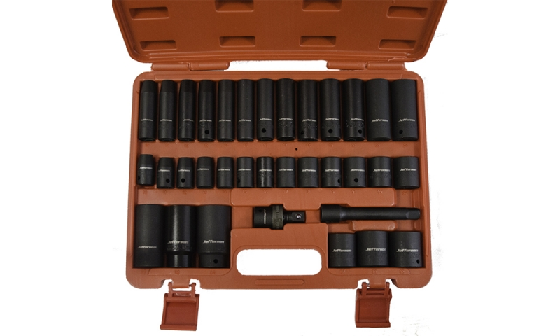 "34 Piece 1/2"" Impact Socket Set"