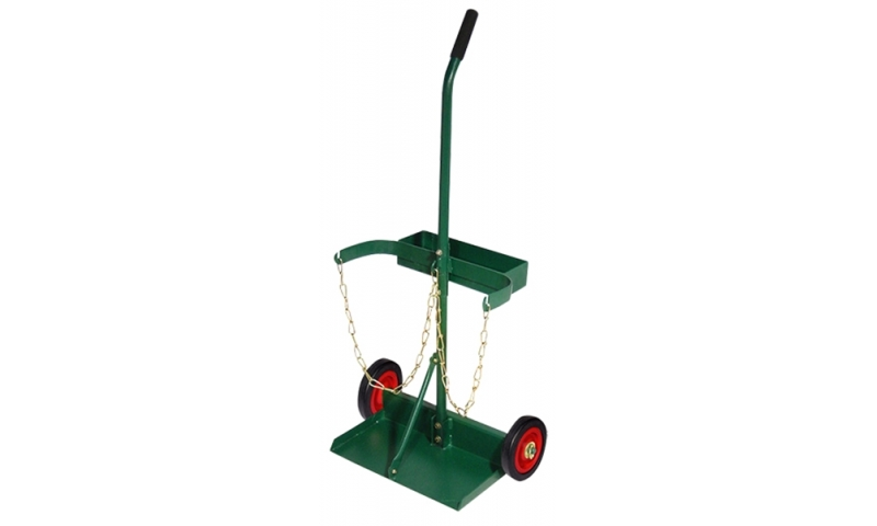 "Double Cylinder Trolley 6"" Wheels Single Handle"