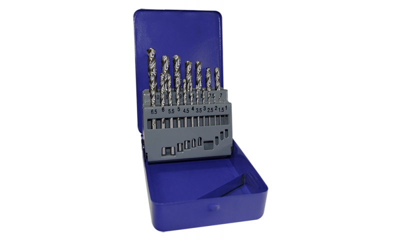 HSS Fully Ground 19 Piece Drill Bit Set