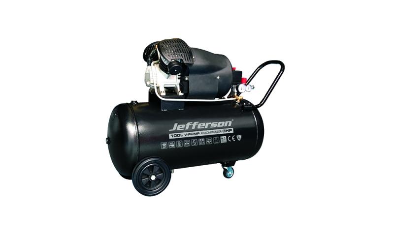 100 Litre 3HP V Pump Compressor 230V