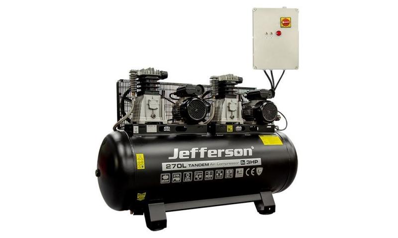 270 Litre 2x3HP Tandem Compressor