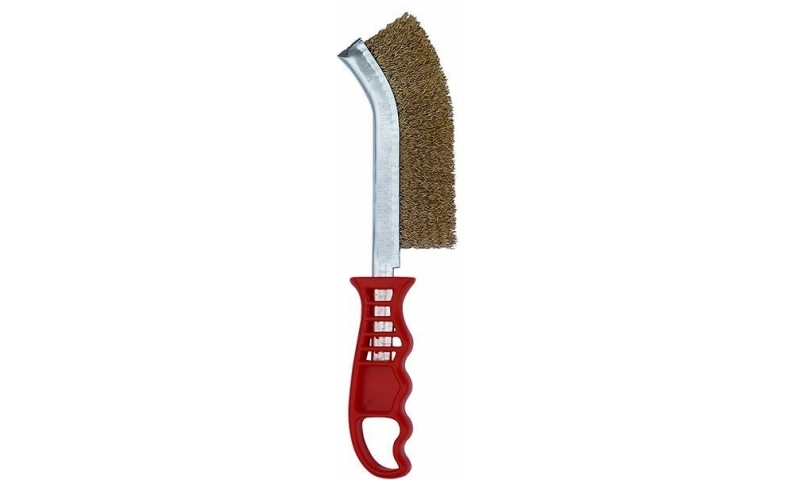Plastic Handle Brass Coated Wire Brush