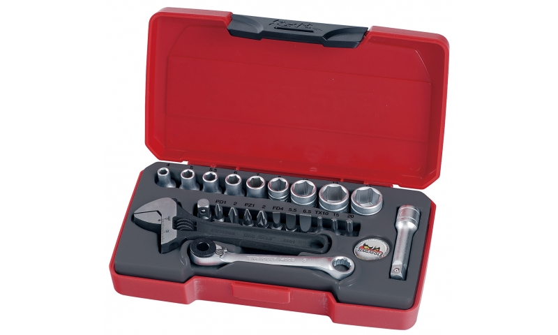 "23 PIECE 1/4"" DRIVE SOCKET SET"